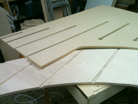 Finish full-size router template, rout 2 verticals, and dry assemble