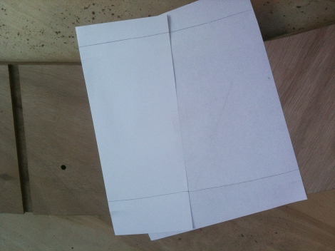 Paper template for lap joint key